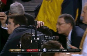 Pitino ducks for cover after the NCAA title game (pic via blacksportsonline.com)