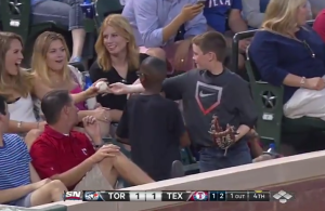 Rangers-Fan-Decoy-Foul-Ball-Girl-Video