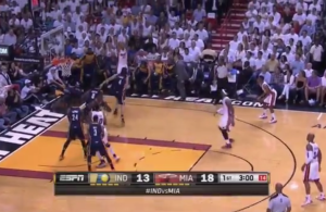 Video-Frank-Vogel-Pacers-Heat-Shane-Battier-3-point-attempt
