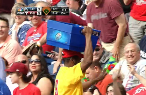 Video-Phillies-Beer-Vendor-catches-Carlos-Ruiz-foul-ball-with-bucket