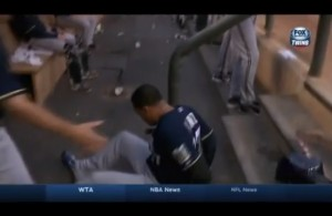 Carlos-Gomez-Brewers-OF-Falls-Down-Dugout-Stairs-Vine