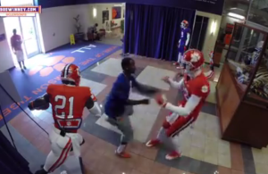 VIDEO-Clemson-QB-Cole-Stoudt-poses-as-mannequin-scares-everyone