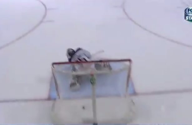 VIDEO: Dallas Stars rookie scores from center ice